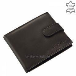 fekete valódi bőr férfi pénztárca