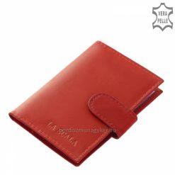 Puha tapintású, minőségi igazi bőrből készült kis méretű és igazán praktikus bőr kártyatartó élénk piros színben. Több színben is elérhető!