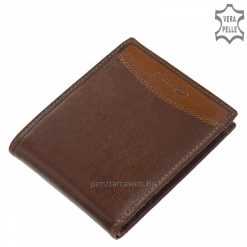 barna bőr pénztárca