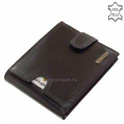 Valódi minőségi tapintású, igazi bőrből készült férfi bőr pénztárca fekete színben, mely Giultieri termékcsaládunk egyedi kialakítású tagja.