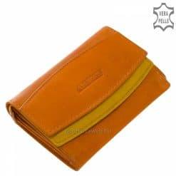 Igazán nőies kialakítású, kisméretű, két színű sárga kombinálásával gyártott, természetes bőr női pénztárca. Ajándékként is nagyszerű!