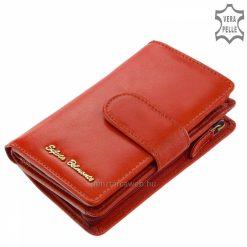 Elegáns külső és minőségi elrendezés jellemzi ezt a női valódi bőr pénztárca modellt, melyet divatos, piros színben kínálunk áruházunkban.