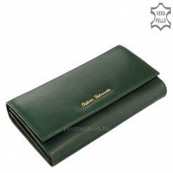 Minőségi kivitelben készült valódi bőr felhasználásával gyártott klasszikus női pénztárca sötétzöld színben a Sylvia Belmonte márkacsaládból.