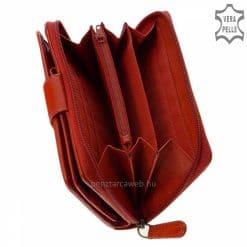 Minőségi bőrből készült, klasszikus és egyben divatos Sylvia Belmonte igazi bőr női pénztárca, nagy méretű piros színű modell. Díszdobozos!