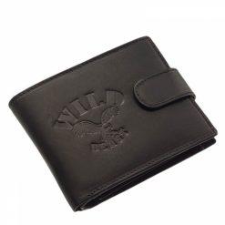 Praktikus belső elrendezéssel rendelkező, divatos fekete, igazi bőr férfi pénztárca modell, melyet nagyon sok funkcióval láttunk el.