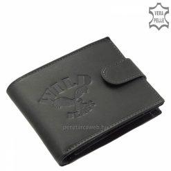 Puha tapintású, minőségi bőrből gyártott dekoratív férfi bőr pénztárca egyedi termék, mely szürke színben is kapható áruházunkban.