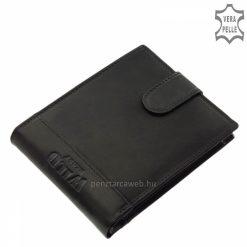 Minőségi valódi bőr felhasználásával gyártott divatos férfi pénztárca, melynek fedelén dísztűzés és a WILD BEAST márka egyedi logója található