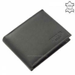 Valódi minőségi bőrből gyártott WILD BEAST szürke színű férfi bőr pénztárca modell, mely klasszikusan két oldalra kihajtható.