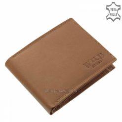 Valódi minőségi bőrből gyártott WILD BEAST világosbarna színű férfi bőr pénztárca modell, mely klasszikusan két oldalra kihajtható.