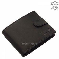 Valódi minőségi bőrből készült, divatos férfi bőr pénztárca, mely a WILD BEAST kollekció egyik legújabb fekete színű darabja.