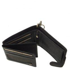 GreenDeed márkás, RFID védelemmel is ellátott, minőségi férfi bőr pénztárca, melynek fekete színű fedelén motoros motívum látható.