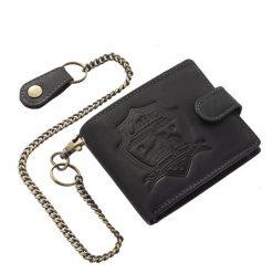 Kiváló minőségű, karakteres, valódi marhabőrből gyártott RFID férfi bőr pénztárca, motor mintás fedéllel amely így ajándékba is tökéletes.