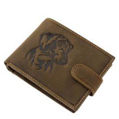 Valódi bőr felhasználásával készült kutyás férfi pénztárca, amely tacskó mintás férfi pénztárca családunk új fejlesztésű modellje.