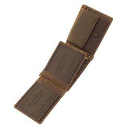 Valódi bőr felhasználásával gyártott kutyás férfi pénztárca, ez a GreenDeed termékcsaládunk új tacskó mintás férfi pénztárca modellje.
