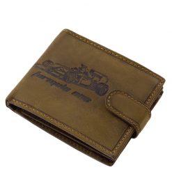 RFID védelemmel ellátott autós férfi bőr pénztárca, a forma1 sportág rajongóinak. Egyedi grafikával készült bőr pénztárca modell.