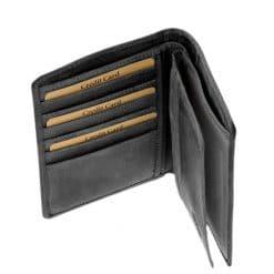 irattartós fekete bőr férfi pénztárca