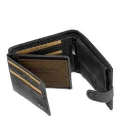 díszdobozos fekete bőr férfi pénztárca