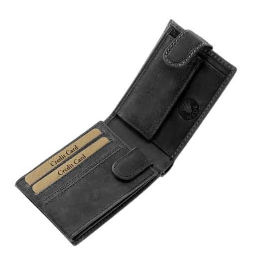 fekete színű díszdobozos férfi bőr pénztárca