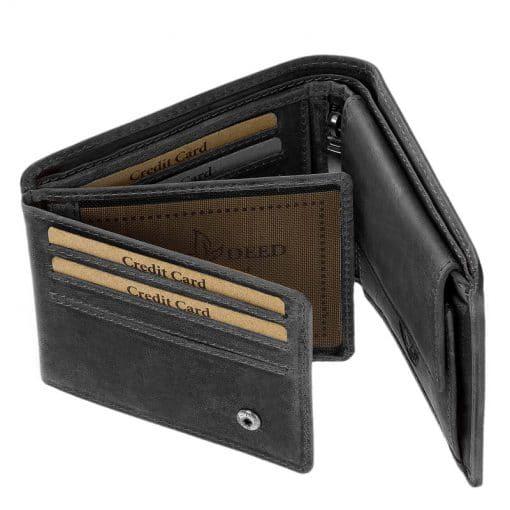 Fekete színű GreenDeed férfi bőr pénztárca