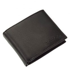 Új Tesselo márkacsaládunk egyik nagyon praktikus és egyben elegáns valódi bőr férfi pénztárca modellje, amely fekete színben készült.