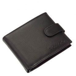 Új Tesselo márkacsaládunk egyik fekete színű nagyon elegáns férfi pénztárca modellje, mely valódi bőr felhasználásával készült.