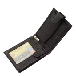 Valódi bőr felhasználásával gyártott elegáns férfi pénztárca, mely fekete színben készült a dekoratív Tesselo márkacsaládtól.