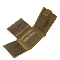 GreenDeed barna színű férfi pénztárca sas mintával, természetes karakterű minőségi valódi marha bőr felhasználásával gyártva.