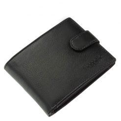 Kiváló minőségű, elegáns megjelenésű férfi bőr pénztárca, mely valódi bőr felhasználásával készült, fekete színben kerül forgalomba.