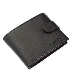 Divatos Tesselo márkás férfi pénztárca, valódi bőr és magas munka minőség jellemezi, a fekete színű termék puha tapintású kivitelben készült.