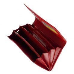 Valódi bőr felhasználásával készült, igazán praktikus nagy méretű brifkó fazonú női pénztárca piros színben. Tesselo Luxury márka logoval.