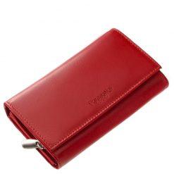 Piros női bőr pénztárca finom tapintású valódi bőrből, nagy méretű kivitelben, praktikus kialakítású magas minőségben készült modell.