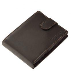 Minőségi valódi bőr alkalmazásával készült barna színű férfi pénztárca, hagyományos belső kialakítással tervezve. Igazán praktikus modell.