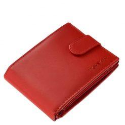 Minőségi valódi bőr alkalmazásával készült piros színű női pénztárca, klasszikus belső kialakítással tervezve. Igazán praktikus modell.