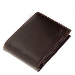 Új Tesselo márkacsaládunk egyik nagyon praktikus és egyben elegáns valódi bőr férfi pénztárca modellje, amely barna színben készült.