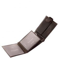Nagyon praktikus és egyben elegáns valódi bőr férfi pénztárca a Tesselo márkacsaládból, amely barna színben készült. Díszdobozos kivitelben.