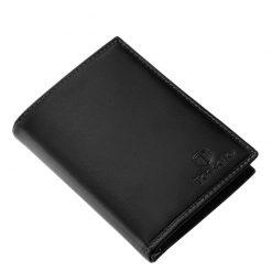 Exkluzív, minőségi valódi bőr férfi irattartó pénztárca Tesselo márkajelzéssel fekete színben. Díszdobozban kerül kiszállításra.