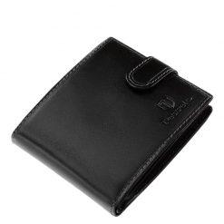 Igazi bőrből készült, minőségi férfi bőr pénztárca, mely a Tesselo kollekció egyik legújabb fekete színű modellje. Díszdobozos modell.