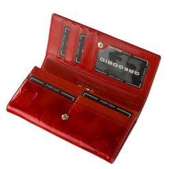 Az aktuális divat követőinek ajánljuk ezt a piros színű, minőségi GREGORIO márkás női pénztárca modellt. Díszdobozos kivitelben készült.