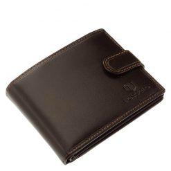 Elegáns kivitelű barna színű minőségi bőr férfi pénztárcaTesselo márkanévvel fedelén, külső átkapcsoló pánttal készült díszdobozos modell.