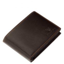 Nagyon praktikus és egyben elegáns minőségi valódi bőr férfi pénztárca a prémium Tesselo márkacsaládból, amely barna színben készült.
