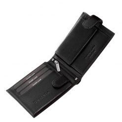 Nagyon praktikus és egyben elegáns valódi bőr férfi pénztárca a Tesselo márkacsaládból, amely fekete színben készült. Díszdobozos kivitelben.