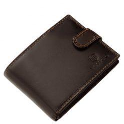 Barna színű, igazi bőrből készült minőségi férfi bőr pénztárca, melynek fedelére a márka klasszikus logómintázata került.