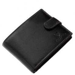 Fekete színű, igazi bőrből készült minőségi férfi bőr pénztárca, melynek fedelére a márka klasszikus logómintázata került.